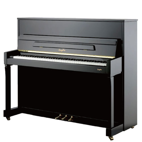 SingArts CA2 Upright Piano(Campus Series), Black Gloss Finish, Height 122cm