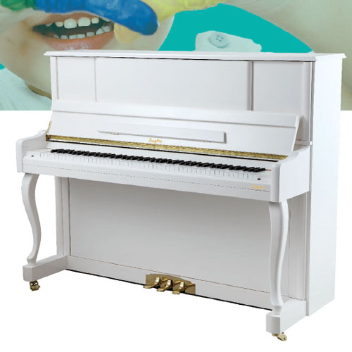 SingArts GA3C Upright Piano(Colourful Series), White Gloss Finish, Height 123cm