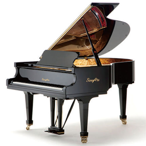 SingArts YT8 Grand Piano(Exclusive Series), Black Gloss Finish, Length 186cm
