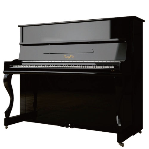 SingArts CA1 Upright Piano(Campus Series), Black Gloss Finish, Height 123cm